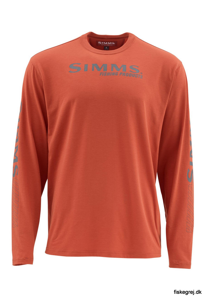 Image of   Simms Tech Tee Simms Orange