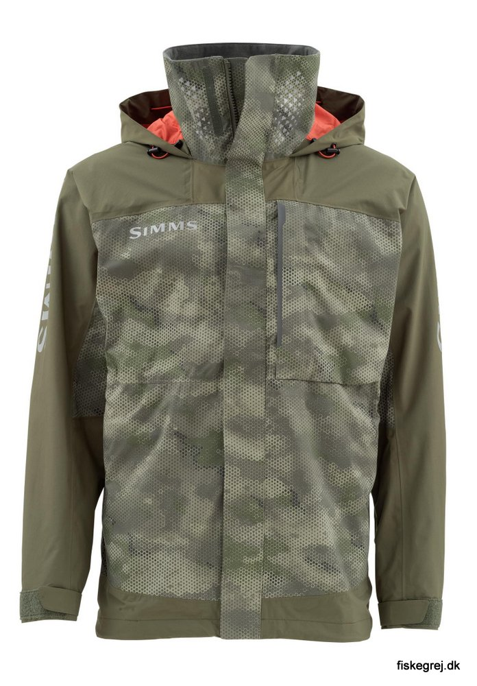 Image of   Simms Challenger Jacket Hex Camo Loden