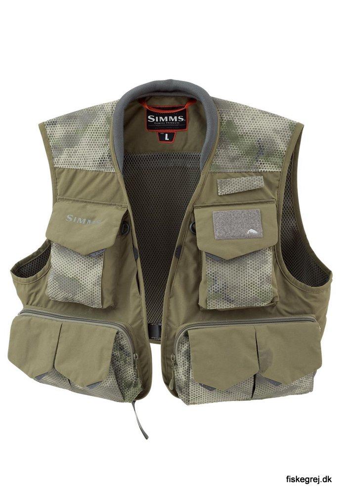 Image of   Simms Freestone Vest Hex Camo Loden