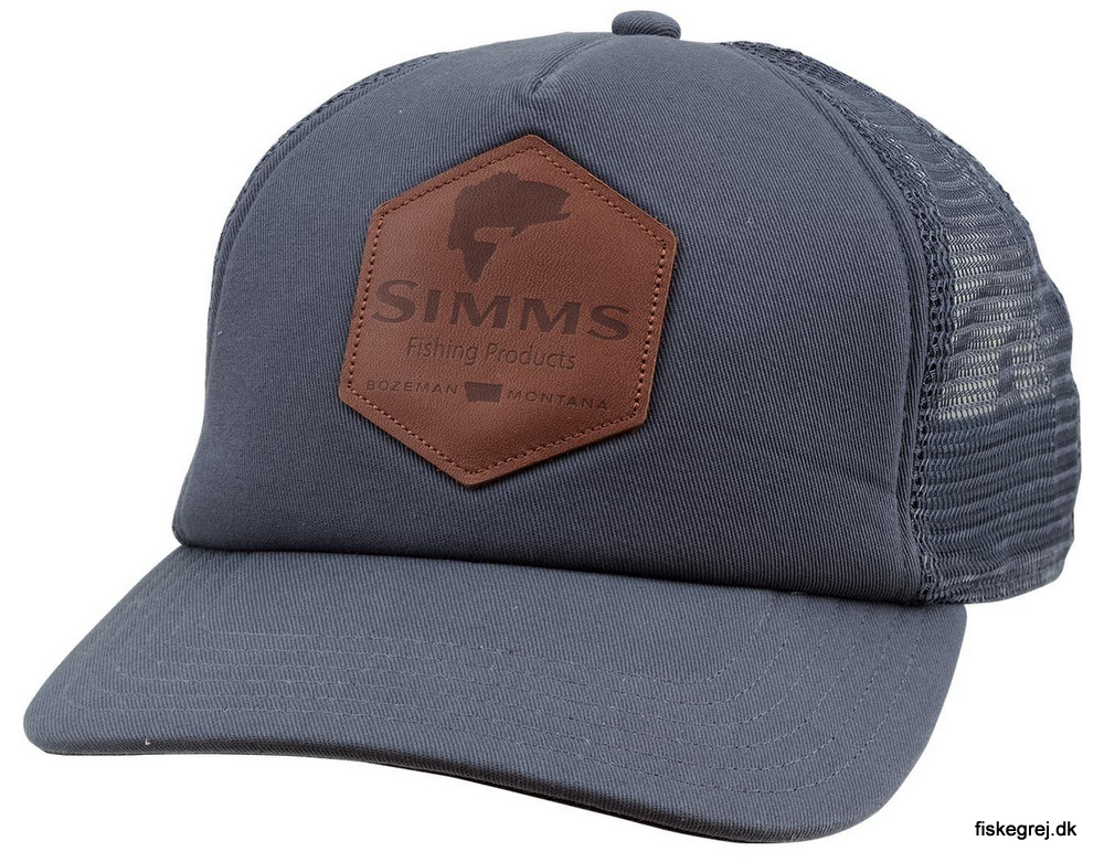 Image of   Simms Leather Patch Trucker Anvil Cap