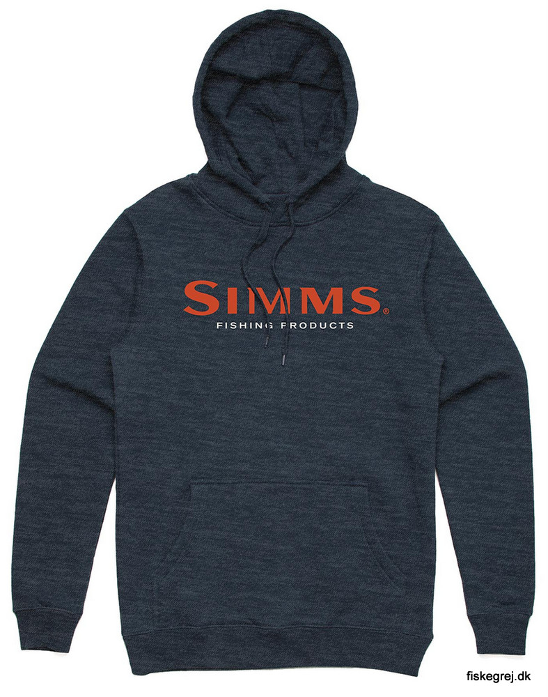 Simms Logo Hoody Navy Heather