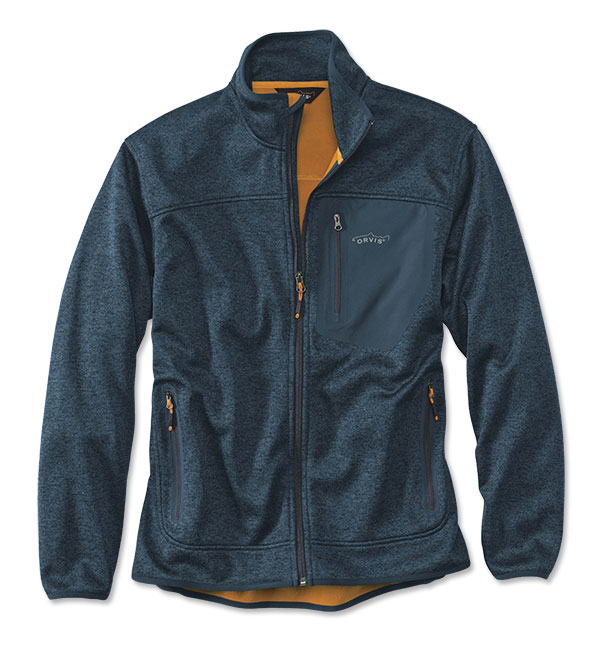 Orvis Windproof Fleece Jakke Navy