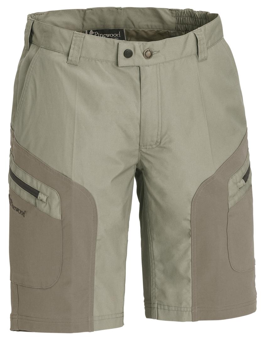 Pinewood wildmark stretch shorts khaki fra N/A fra fiskegrej.dk