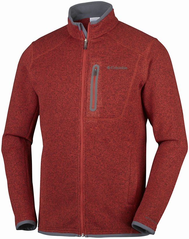 Image of   Columbia Altitude Aspect Fleece Rusty Rød