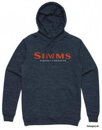 Simms Logo Hoody Navy Heather