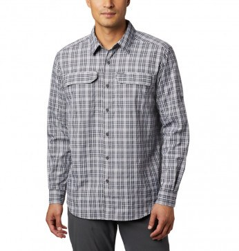Columbia Silver Ridge™ 2.0 Plaid LS Skjorte Black Gingham
