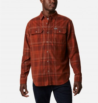 Columbia Flare Gun™ Corduroy Skjorte Dark Amber Plaid