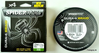 Spiderwire Dura 4 Braid 300m Grøn