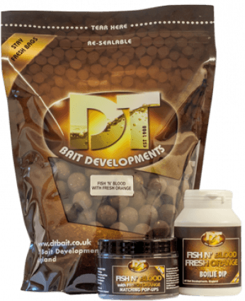 DT Bait Fish And Blood - Fresh Orange Boilies
