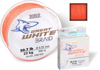 Zebco Great White Braid 300m Rød