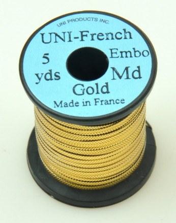 Uni-French Embossed Gold Medium 5yards