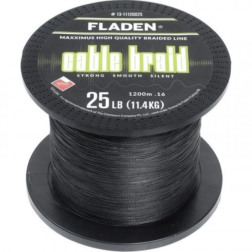 Image of   Fladen Cable Braid Sort 1200m