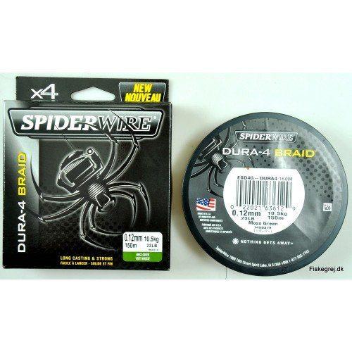 Spiderwire Dura 4 Braid 150M Grøn
