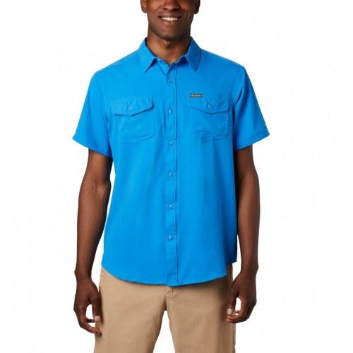 Columbia Utilizerâ?¢ II Solid SS Skjorte Azure Blue