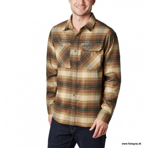 Columbia Outdoor Elements™ Stretch Flannel Olive Brown Plaid thumbnail