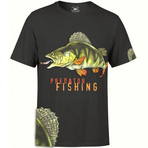 Fladen Greedy Perch T-Shirt Sort thumbnail