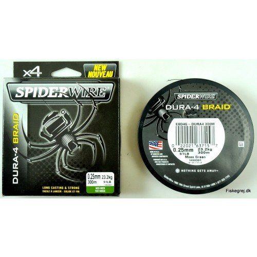 Spiderwire Dura 4 Braid 300m Grøn