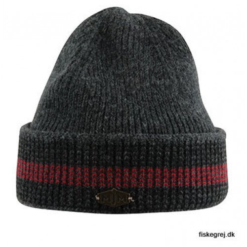 Image of   MJM Beanie 3C Wool Mix Grey/Black/Red