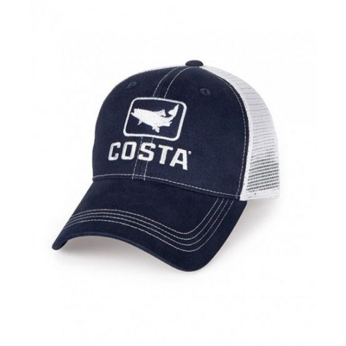 Costa Trout Trucker Cap Navy/White thumbnail