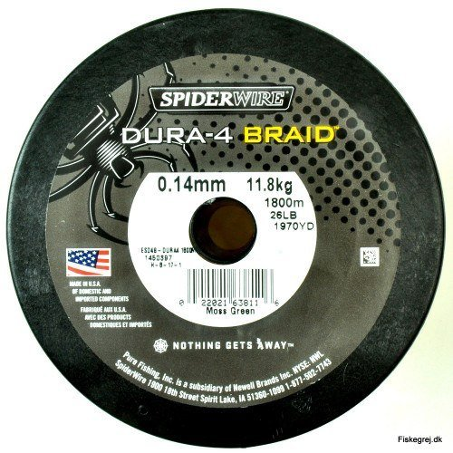 Spiderwire Dura 4 Braid 1800m Grøn