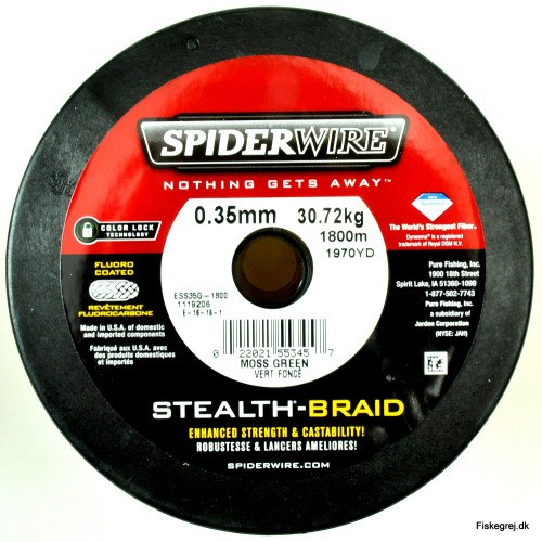 Spiderwire Stealth Braid 0,35mm Påspoling