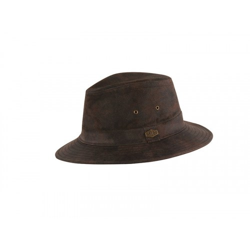 Image of   MJM Haag Leather Hat Brun