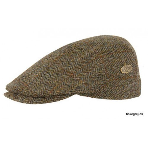 Image of   MJM Hunter Harris Tweed YM Green Herringbone