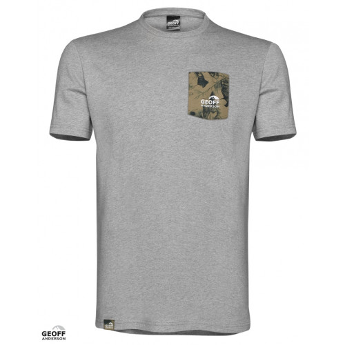 Geoff Anderson T-Shirt med Lomme Grå thumbnail