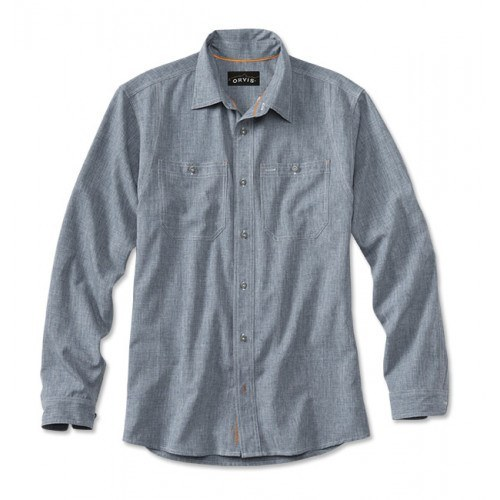 Image of   Orvis Tech Chambray Work Skjorte Blå