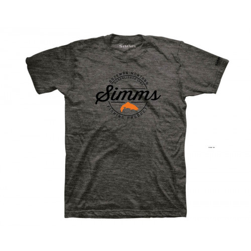 Simms Authentic T-Shirt Charcoal Heather thumbnail