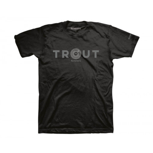Simms Reel Trout T-Shirt Black thumbnail