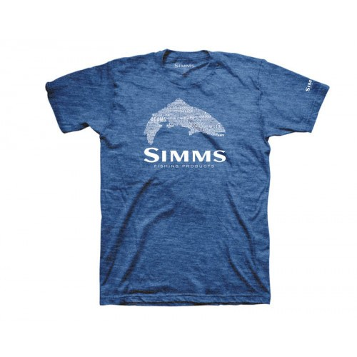 Simms Stacked Typo T-Shirt Royal Heather thumbnail