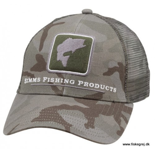 Image of   Simms Bass Icon Trucker Pico Camp Mineral Cap