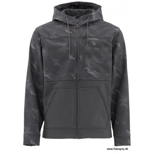 Simms Rouge Hoody Hex Camo Carbon thumbnail