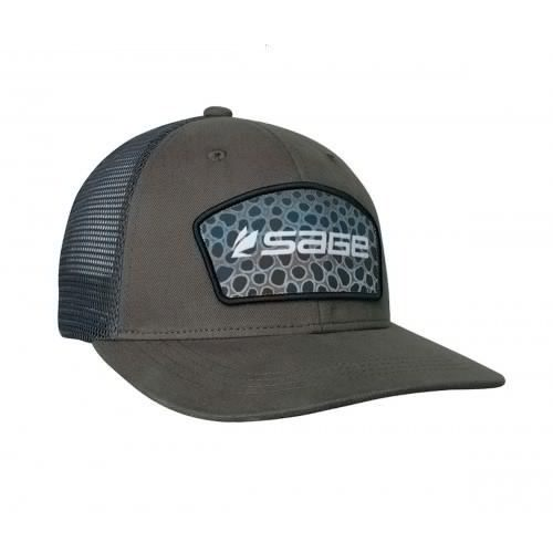 Image of   Sage Patch Trucker Green - Brown Trout