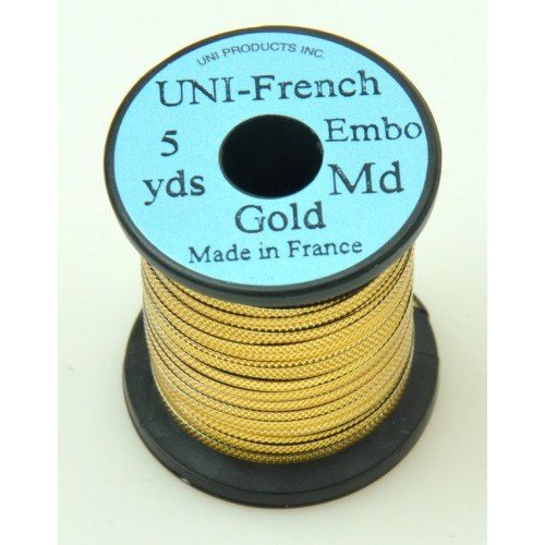 Uni-French Embossed Gold Medium 5yards