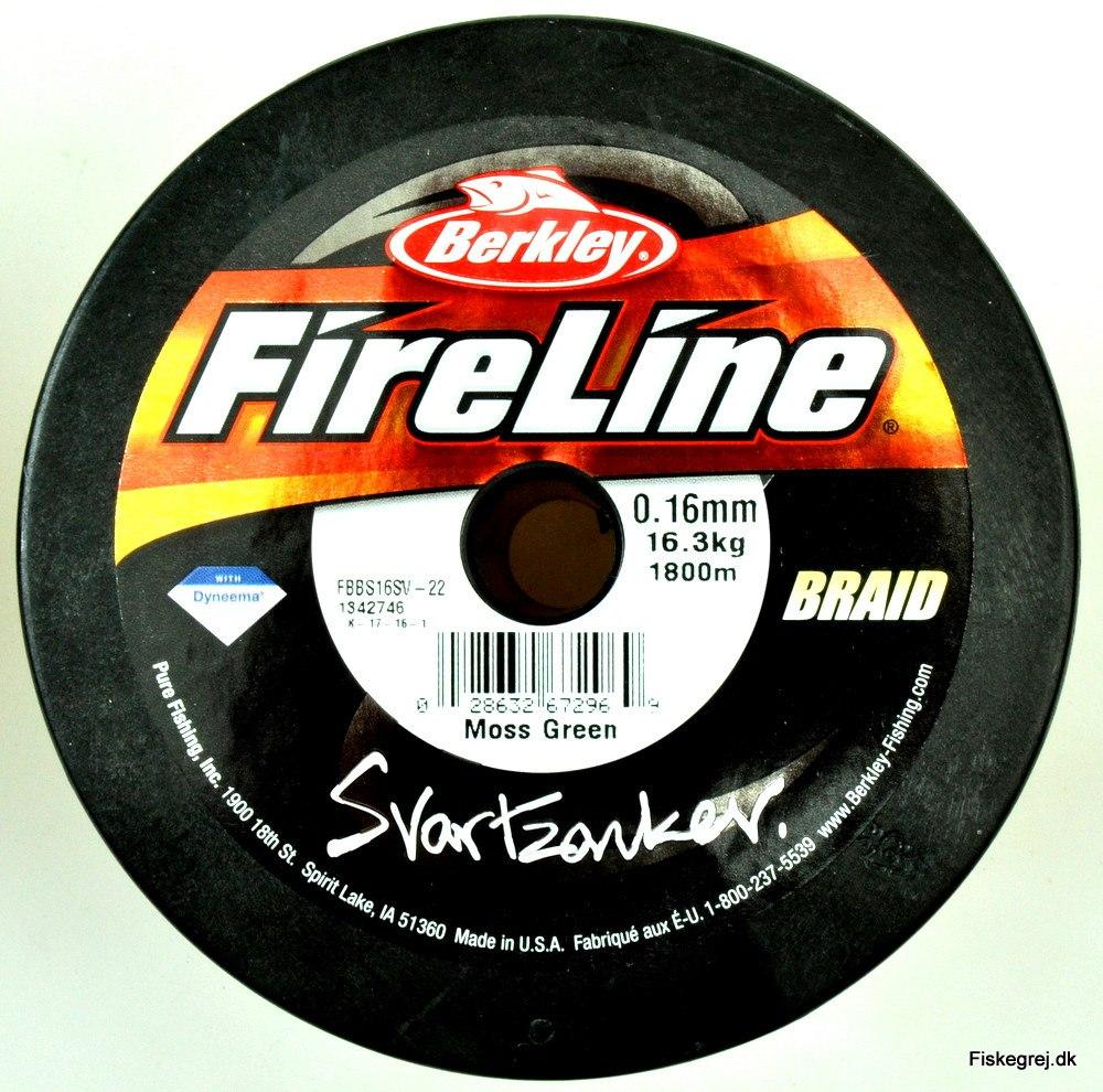 Berkley Fireline Svartzonker Braid Påspoling
