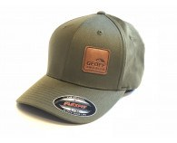 Geoff Anderson Flexfit Olive Leather Cap