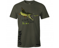 Fladen Hungry Pike T-Shirt Grøn
