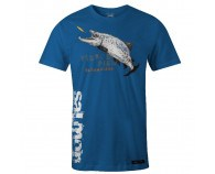Fladen Hungry Salmon T-Shirt Blå