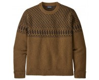 Patagonia Recycled Wool Sweater Farm Blend: Mulch Brown