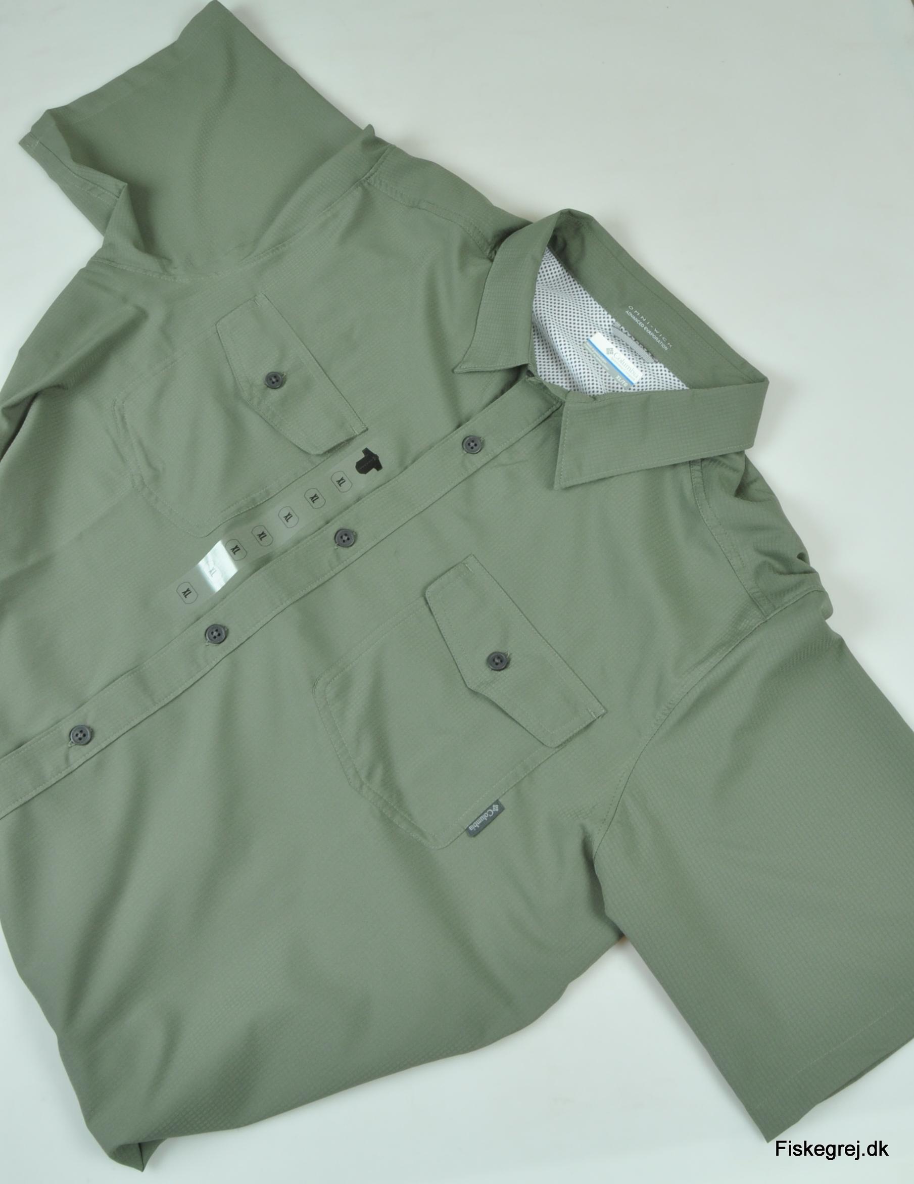 Columbia utilizer ii solid ss skjorte fra N/A på fiskegrej.dk