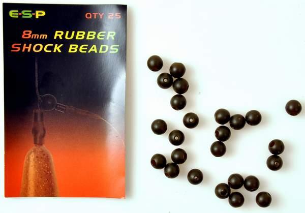 Esp rubber shock beads fra N/A fra fiskegrej.dk