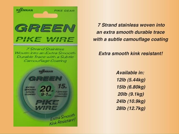 N/A – Drennan green pike wire på fiskegrej.dk
