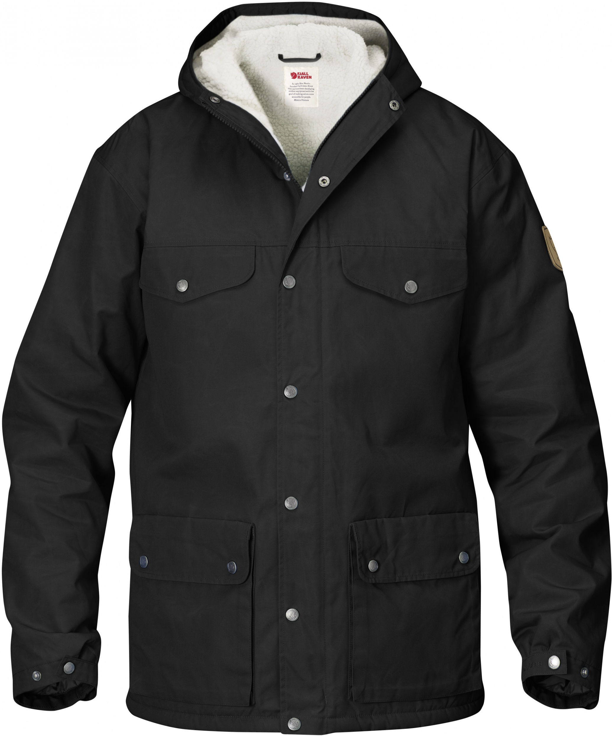 Fjällräven greenland winter jacket sort fra N/A på fiskegrej.dk