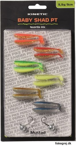 Image of   Kinetic Baby Shad PT - Favorite Mix
