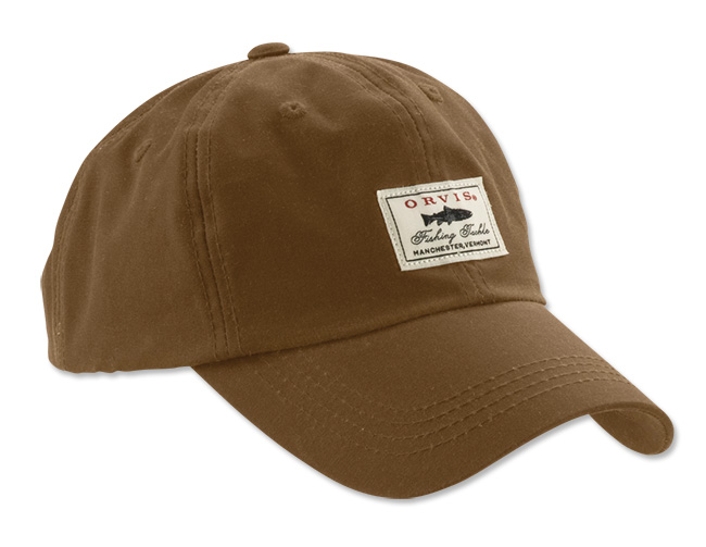 Image of   Orvis Vintage Waxed Cotton Cap Brown