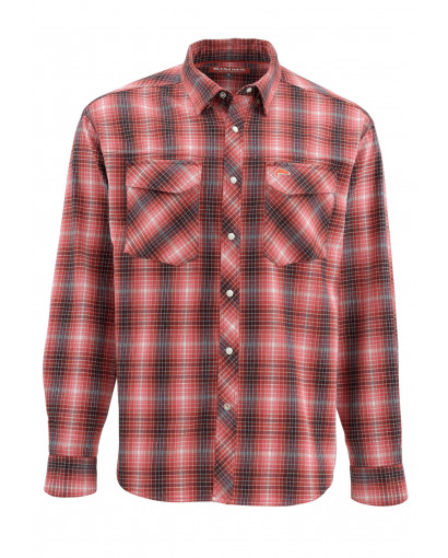 Image of   Simms Gallatin Flanel Skjorte Garnet Plaid