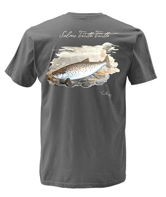 N/A Simms weiergang t-shirt seatrout gunmetal på fiskegrej.dk