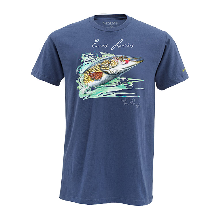 Image of   Simms Weiergang Pike Navy T-Shirt